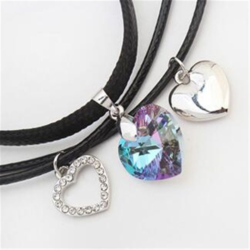 SHDEDE Fashion Jewelry Necklaces Pendants Vintage Heart Crystal from Swarovski H