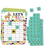 Big Dot of Happiness Let's Fiesta - Bar Bingo Cards and Markers - Mexica... - $14.65