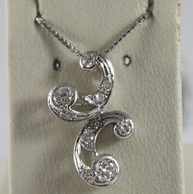 SOLID 18K WHITE GOLD NECKLACE, ETHNIC STYLE WITH DIAMONDS, DIAMOND MADE IN ITALY image 1