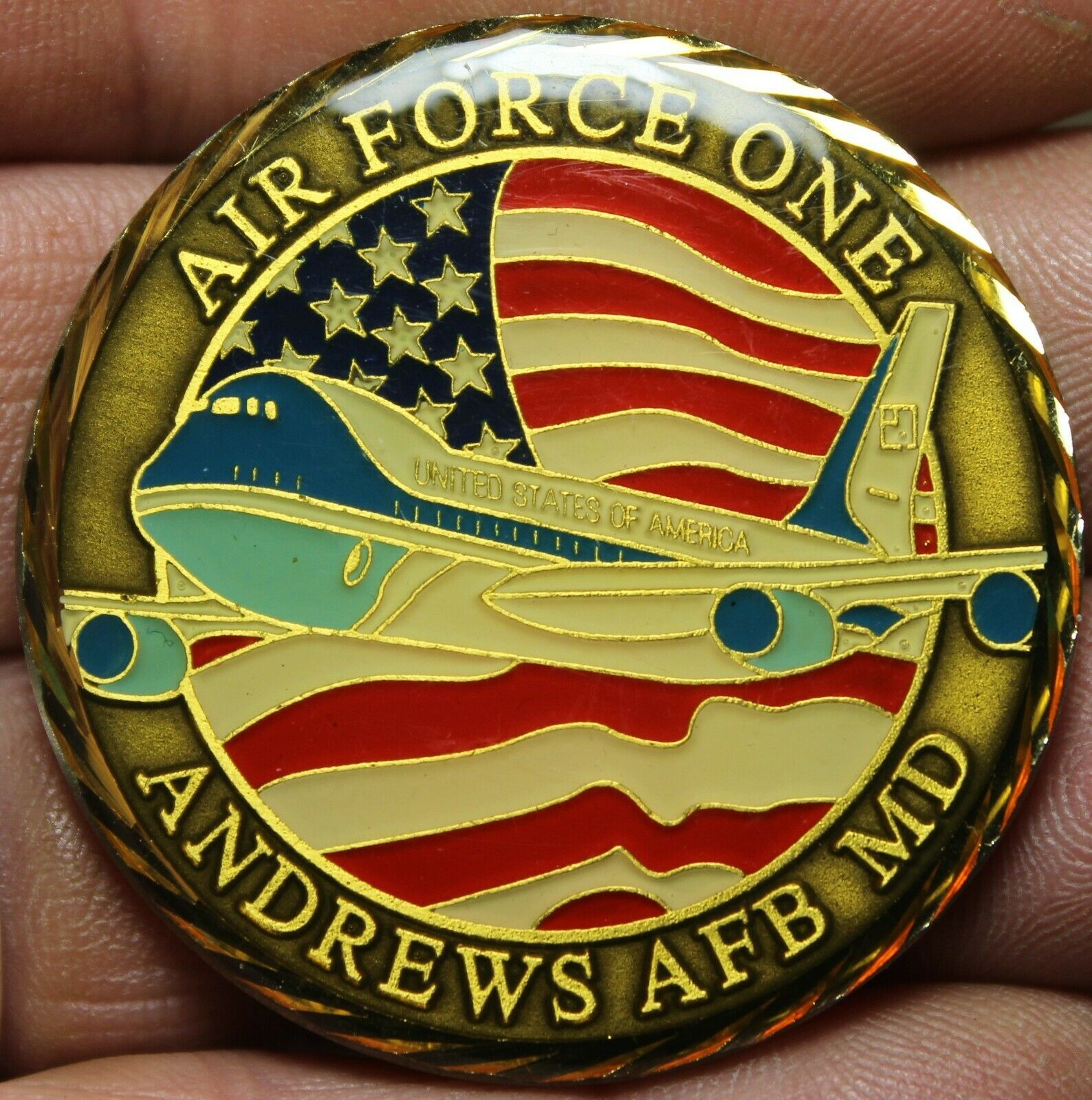 Primary image for Air Force One Andrews Air Force Base Maryland President Of The USA 45.5mm Medal
