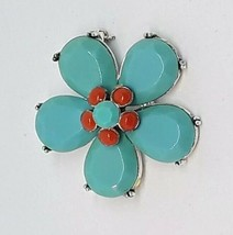 Vintage Rhinestone Blue Forget Me Not Flower Silver Tone Unbranded Brooch Pin - $14.89