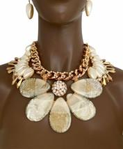 Cristaux Faux Perles & Acrylique Oversized Cléopâtre Collier Imposant Dr... - $78.99