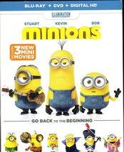 Minions Blue Ray & DVD - $5.95