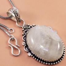 "Rainbow Moonstone Fashion Gifted Women's Gemstone Silver Jewelry Pendant 2"" - $4.99"