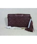 NWT Tory Burch Claret Fleming Wallet Cross Body Bag $328 - $324.72