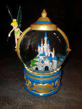 Extremely Rare! Walt Disney Peter Pan Tinkerbell Snowglobe Figurine Statue - $247.50
