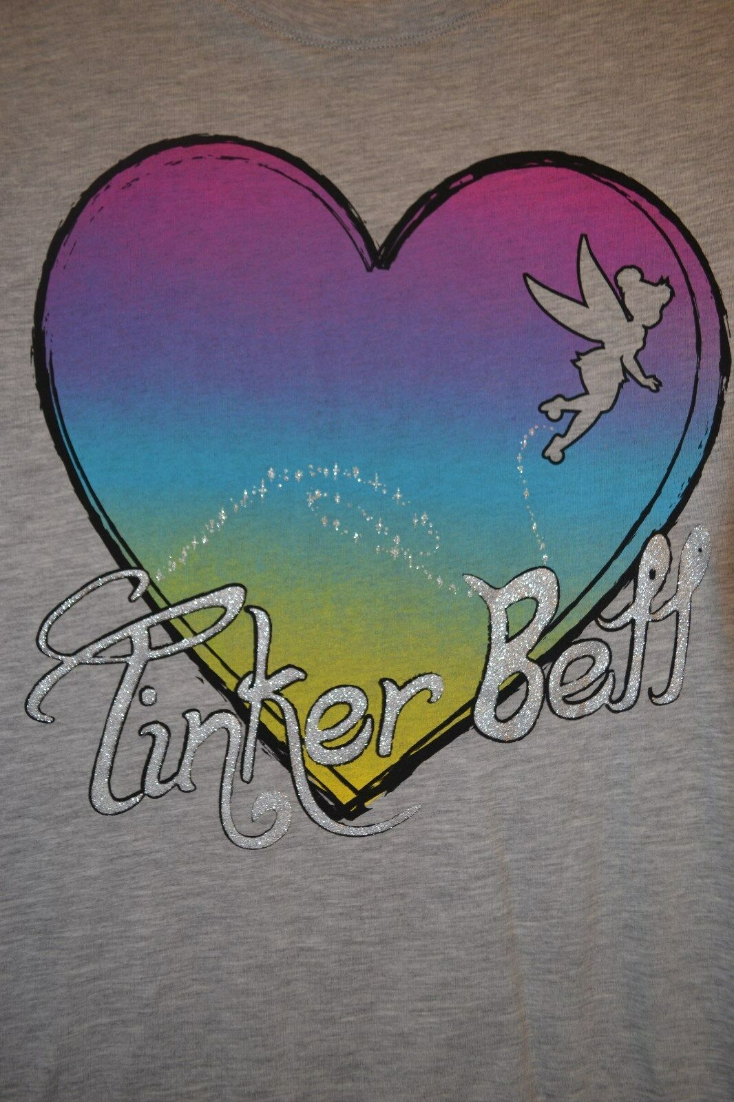 Primary image for Disney TinkerBell Tinker Bell T-Shirt Heart Size Junior's XL 15/17