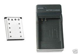 Battery + Charger For Casio EXZS5B EX-ZS5S EX-ZS5O EX-Z800 EX-Z800BK EX-Z800BE - $25.18
