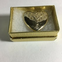 """Vintage The Variety Club Gold-tone Heart Pin With A Tree 1"""" - $11.63"""