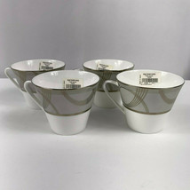 Waterford Ballet Encore Tea Cups Fine Bone China Lot of 4 - $59.35