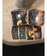 "24 Yds. Halloween Fabric Ribbon 4 Rolls 1 3/8"" Wide & 2 Rolls 2 2/3"" Wid... - $9.99"