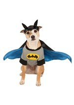 Batman Pet Costume Shirt With Detachable Cape & Headpiece Sz XS, XL NEW - €13,59 EUR