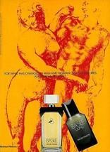 Basile Perfume Cologne 1989 Ad Michelangelo DaVinci Art - $14.99