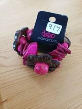 917 Pink& Brown Flower Bracelet (New) - $8.14
