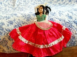 Vintage Antique Doll Female with Dress - $11.88