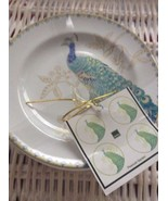 FIFTH 222 PEACOCK GARDEN FINE CHINA SET OF 4 APPETIZER /SIDE PLATES NEW! - $28.99