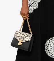 Tory Burch Juliette Snake Chain Leather Mini Bag Shoulder/Crossbody Blac... - $329.00