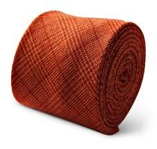 Frederick Thomas arancione e Scozzese Rosso MENS 100% LINO CRAVATTA ft3368 - $24.39