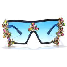 Oversized Colorful Diamond Sunglasses Women Luxury Fashion One Piece Square Sung image 12