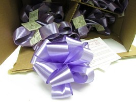 """LOT OF 100 RIBBON BOWS LAVENDER COLOR PEEL & STICK EASY NEW 5"""" MADE IN USA - $7.87"""