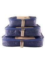 NEW MANCINI LUGGAGE PACKING CUBE SET OF 3 SMALL MEDIUM LARGE BLUE - $569,80 MXN