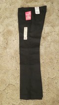 Dickies Girl's School Uniform Flare Flat Front Wide Band Black Sz 9 Jr 3... - $14.80
