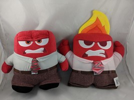 Disney Inside Out Red Anger Plush Flame Lot Stuffed Animal - $9.13