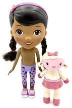 """Disney The Doc Mcstuffins Nude Doll 9"""" And Lambie Lamp Figure 5"""" Lot Of 2 - $7.91"""