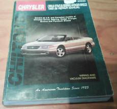 Chilton 95-98 Chrysler Cirrus Sebring Stratus Avenger & Breeze Repair Manual - $7.00
