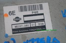 Nissan XTERRA 02 ECU ECM Brain Computer MEC107-360 C1 image 3