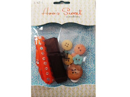 SEI Hoo's Sweet Sundries, Ribbon, Buttons, Brads, Perfect for Fall!