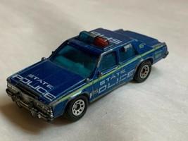 Vintage 1987 Matchbox Ford LTD SP16 Blue State Police Car! Kids Play Toy Used - $18.59