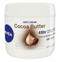 NIVEA Cocoa Butter Body Cream 48 Hour Moisture Very Dry Skin Care 15.5 oz. Jar - $8.85