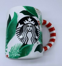Starbucks Coffee Cup Mug 12oz Limited Edition Holiday 2019 Holly Candy Cane - $22.47