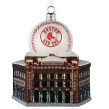 KURT ADLER MLB™ GLASS BOSTON RED SOX FENWAY PARK w/BASEBALL CHRISTMAS OR... - $18.88