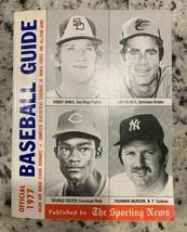 1977 Sporting News Official Baseball Guide JONES, PALMER, FOSTER, MUNSON... - $9.75