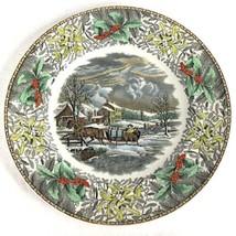 Adams China Winter Scenes Dinner Plate American Farm Scene England Curri... - $103.90