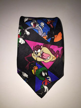 Looney Tunes Mania Tie Gangs All Here Polyester Xmas Gift For Dad Warner... - $12.37