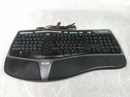 Microsoft KU-0462 Model 1048 Black USB Natural Ergonomic Keyboard 4000 V1.0 - $34.20