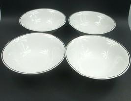 "Set of 4 Royal Norfolk White with Gold Rim Bowl - 6¾"" Diameter  - $18.41"