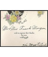 Wedding Flowers Antique Greeting Card Hand Painted Floral 1929 The Mysti... - $18.99