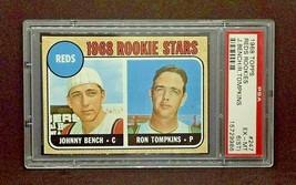 1968 Johnny Bench Rookie Original Topps Baseball Card #247 - PSA Graded ... - $240.00