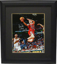 Steve Kerr signed Chicago Bulls Lay Up Action 16x20 Photo Custom Framed ... - £138.11 GBP