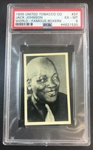 1935 UTC United Tobacco Co.  World Famous Boxers #37 JACK JOHNSON - PSA ... - $593.01