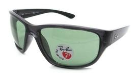Ray-Ban Sunglasses RB 4300 705/O9 63-18-130 Transparent Grey / Green Polarized - $118.19