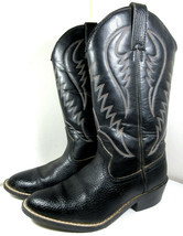 Express Rider Trivette Black Faux Leather Cowboy Western Boots Size 8 US... - €24,86 EUR