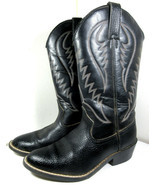 Express Rider Trivette Black Faux Leather Cowboy Western Boots Size 8 US... - £22.95 GBP