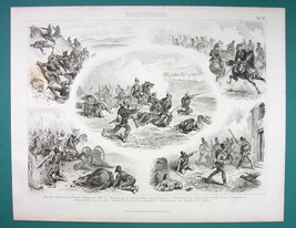 WAR of 1870 Prussia vs Germany Scenes - 1870s Antique Print - $16.20