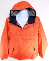TIMBERLAND MEN'S ORANGE/NAVY WATERPROOF HALF-ZIP HOODED JACKET SZ M, #58... - $47.99