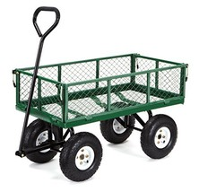 Gorilla Carts GOR400-COM Steel Garden Cart with Removable Sides, 400-lbs... - $90.29